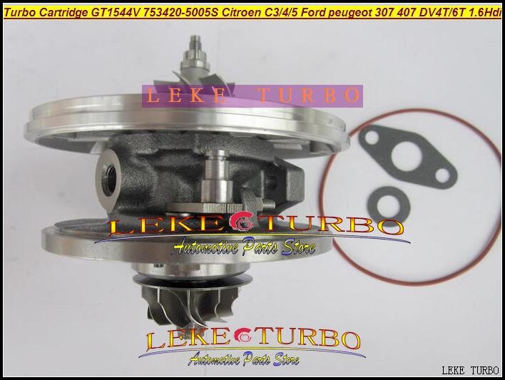 TURBO Cartridge CHRA OF GT1544V 753420-5005S For CITROEN C3 C4 C5 FORD PEUGEOT 307 407 DV4T DV6T 1.6L Hdi turbocharger (4)
