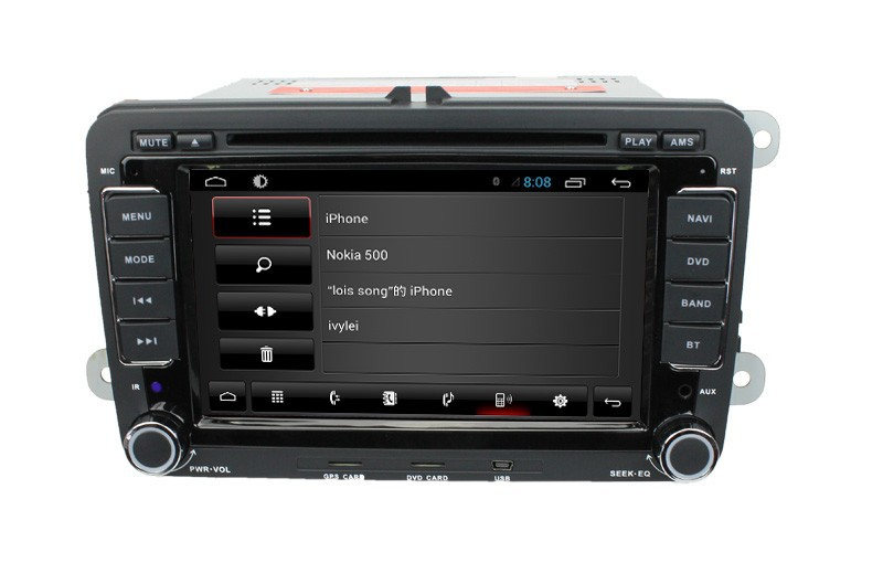 """For 7"""" VW Universal  with android 4 core cortex A9+3G+Wifi+Radio+BT phonebook+Ipod list +USB+Steering wheel control+ATV+DVD+VCD"""