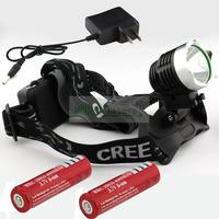 Налобный фонарь 1800 CREE xm/l T6 6400mAh 8.4V &