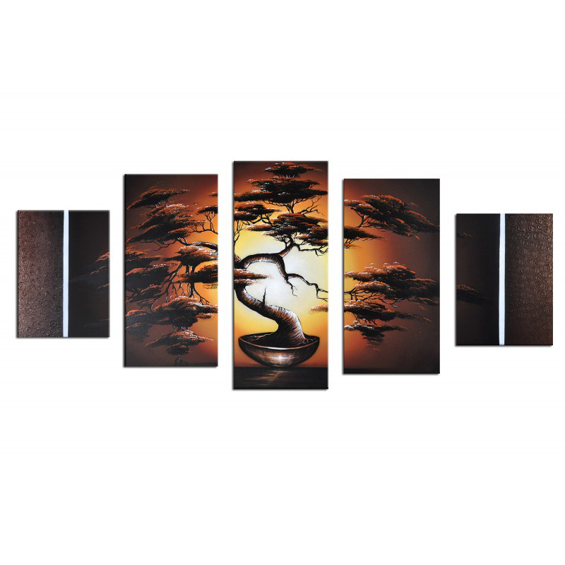 Most Beautiful Home Goods Wall Art 5 Pieces Tree Landscape