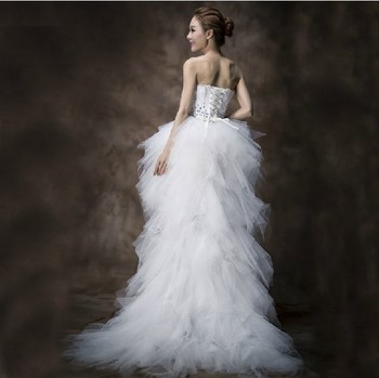 A line Feather Wedding Dress Free Shipping For Elegant Ball Gown Wedding Lace Dress Off Shoulder Bridal Wedding Gown  016