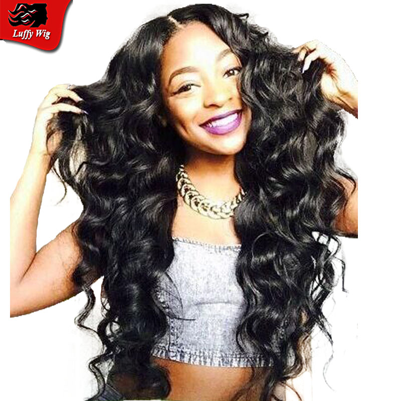 7A New Fashion Unprocessed Deep Wave Lace Wigs Side Part With Bang Brazilian Deep Wave Full Lace Wigs With Natural Hairline<br><br>Aliexpress