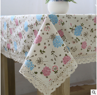 Pink/blue tablecloth size more high quality table cloth is suitable for home/hotel/party/wedding free shipping(China (Mainland))