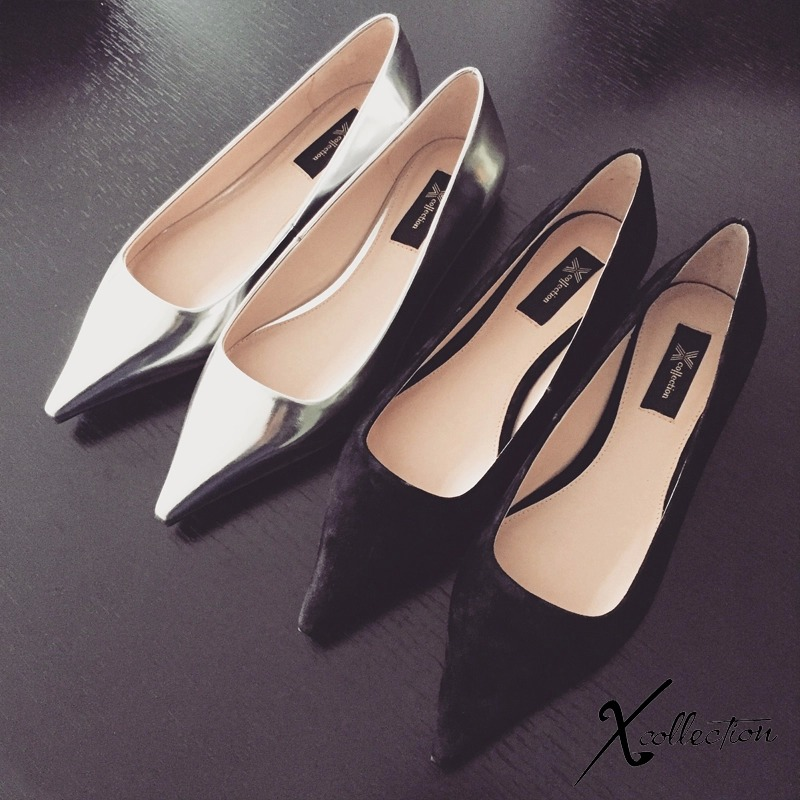 Xcollection plus 16 spring and summer vintage elegant pointed toe flat heel senior womens shoes/1039<br><br>Aliexpress