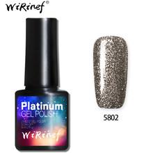 WiRinef 10 cores Super Brilhante Platina Estrelado Glitter Efeito Led Uv Verniz Gel Unha Polonês Nail Art Gel Brilhante(China)