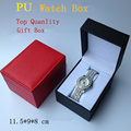 Wholesale Leather Brand Watch Box Red Top Quanlity Watch Storage Case Fashion Watch Gift Packing Box