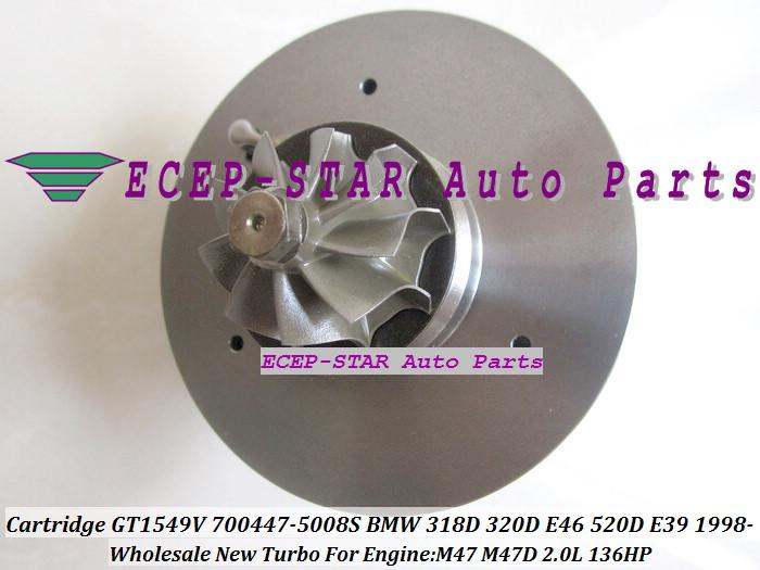 Turbo CHRA Cartridge Turbocharger Core GT1549V 700447-5008S For BMW 318D 320D E46 520D E39 1998- M47 2.0L 136HP (5)