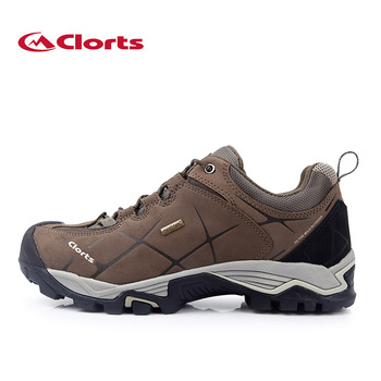 2016 Clorts Men Autumn Fashion Trekking Shoes Waterproof Real Leather Low Cut Non-slip Outdoor Shoes HKL-805A
