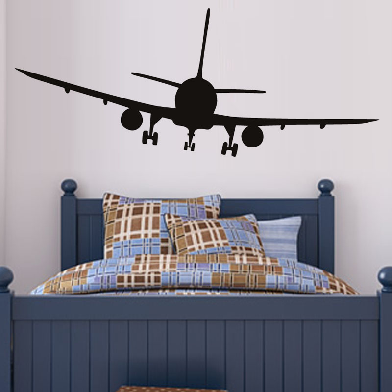 New vinyl removable commercial airliner wall decal home for Airplane wall decoration