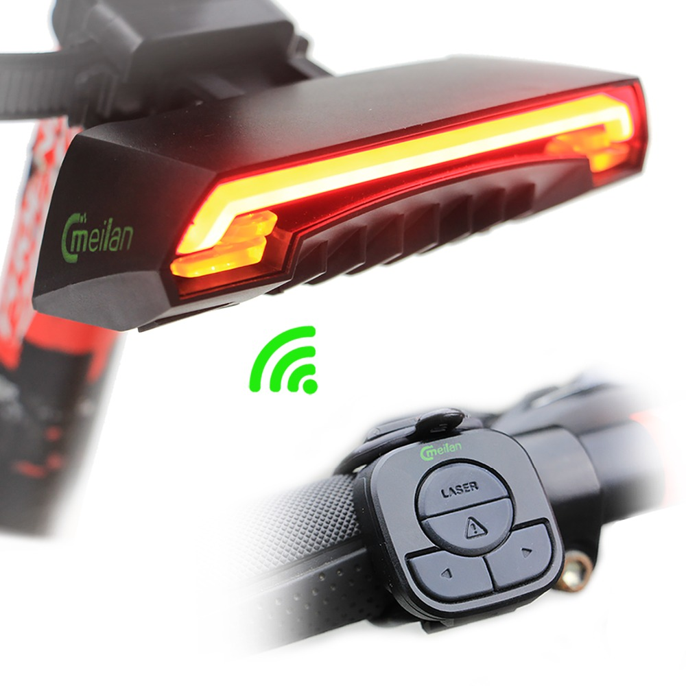 Smart Bicycle Light X5 Remote Wireless Rear Light Turn Signal with Laser Beam USB Chargeable(China (Mainland))