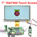 Raspberry Pi 7 Inch 1024 600 TFT LCD Display Monitor Touch Screen with Driver Board HDMI