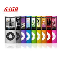 Mini portable 64GB memory 9Colors Slim 1.8' 4th mp3 player Music playing time Fm radio ebook video player mp3 player(China (Mainland))