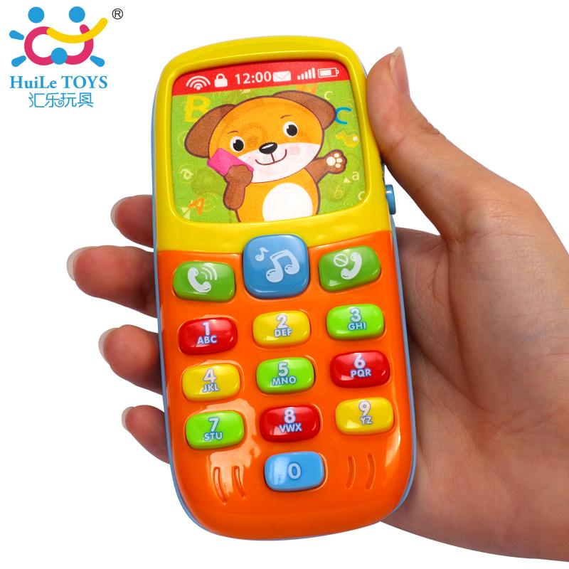 Original Huile Toys Electronic Toy Phone Kid Mobile Phone Cellphone Telephone Educational Learning Toys Music Machine Baby Phone(China (Mainland))
