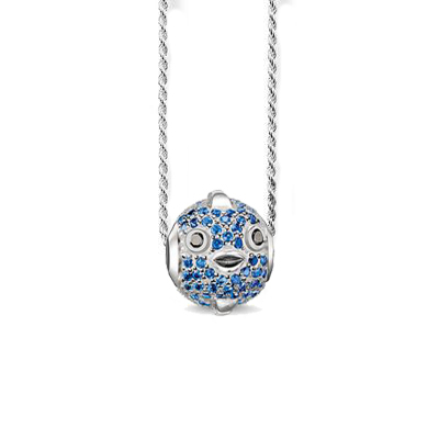Diy necklace 18k rose blue bird crystal beads pendant rope chain 16inch collares summer jewelry best gift for friend baby AZ235(China (Mainland))