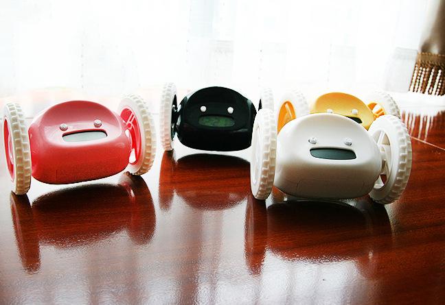 2016 New Morning To Get Despertador Luminous Mute Plastic Alarm Clock 4 Colors Creative Novelty Will Escape Electronic Clock A(China (Mainland))