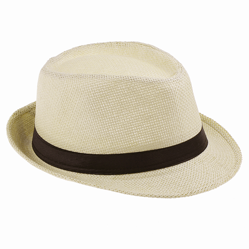 Men Straw Fedora cap Trilby Chapeu Beach sun hat sombrero cowboy Sunhat Bucket Travel handmade band Summer panama hat Men