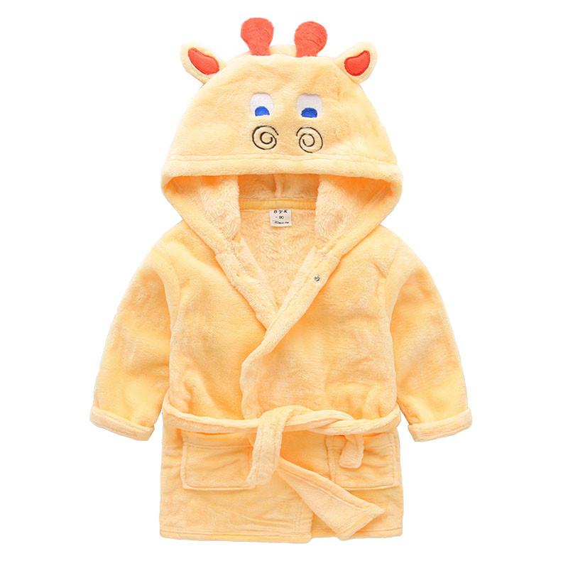 Children's Bathrobes Star Pattern Poncho Hooded Towel Baby Beach Bath Robe Kids Sleepwear Pink White Boy Girls Teenager Bathrobe