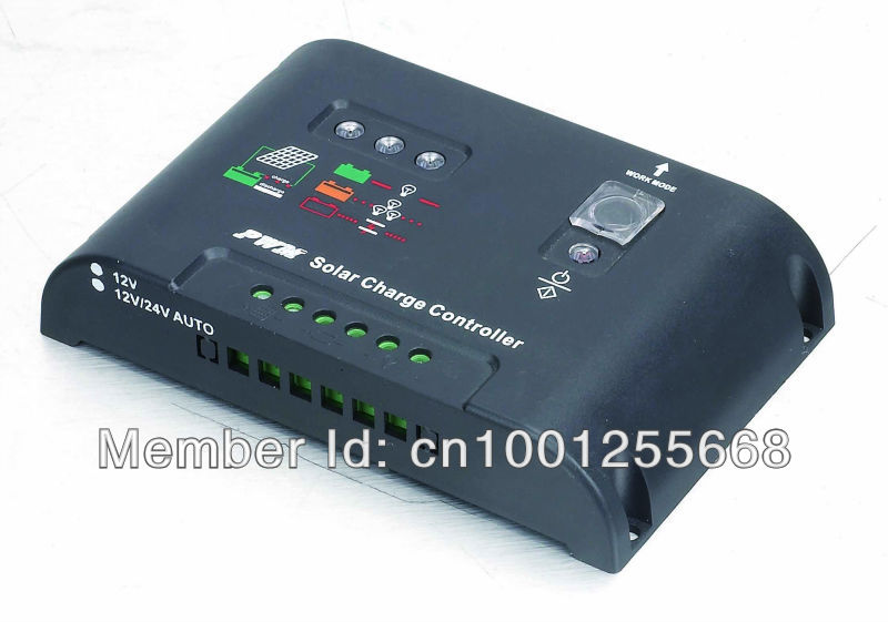 30A Solar Charge Controller, 12/24V DC Auto Connect Maintenance Free Battery and PV Solar Panel(China (Mainland))