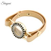 5ocs-lot-Fashion-3Colors-Alloy-Crystal-Living-Memory-Locket-Bracelet-for-Charms-Locket-Leather-Wrap-Bracelet