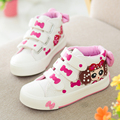 Yeeshow 2016 Spring New Kids Shoes Breathable Canvas Girls Shoes Chaussure Enfant Wearable High Sneakers For