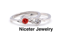 NICETER 1Pc Free Shipping 18K Gold Ruby Transparent Top Quality Swiss CZ Diamond Rings For Bridal