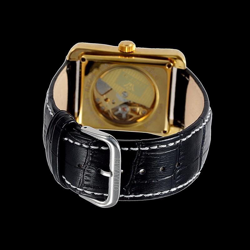 Золото скелет кол саати автоматические механические часы Оригинальный бренд OUYAWEI luxury мужские часы спорт военная reloj hombre2016