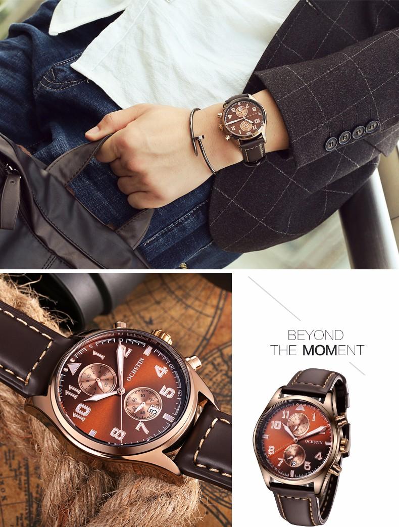 Luxury Brand OCHSTIN Mens Watches Casual Quartz Watches Mens  Army Sport relogio masculino relojes montre homme reloj hombre
