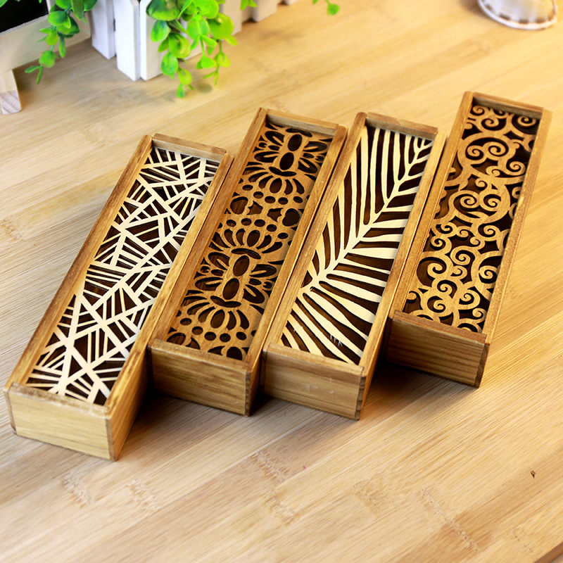 New Multifunctional Wooden Retro Openwork lace School Pencil Box Pen Case High - grade gift box Vintage Stationery 1018(China (Mainland))