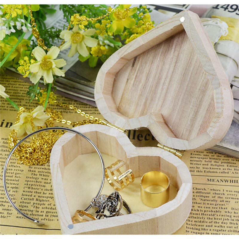 Rustic Natural Wooden Storage Box Home Storage Wooden Jewelry Ring Holder Marriage Holiday Wonderful Gift Makeup Organizer(China (Mainland))