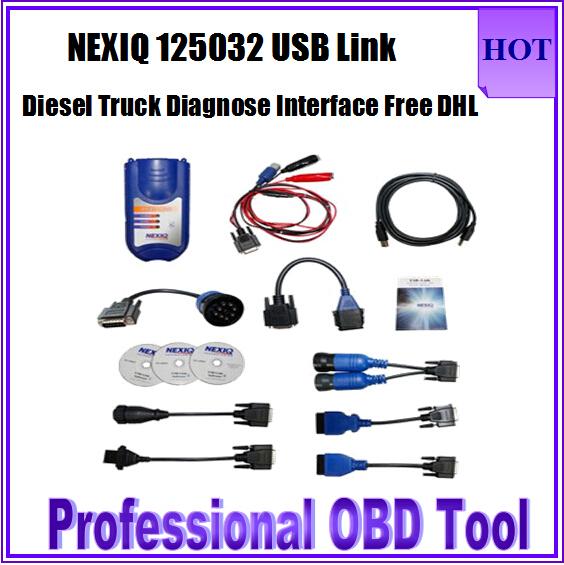 2015 Newest NEXIQ 125032 Nexiq USB Link Software Diesel Truck Diagnose Interface Nexiq 125032 USB For Truck 1 Year Warranty(China (Mainland))