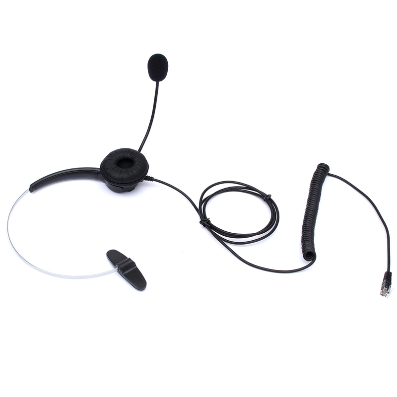 RJ11 Telephone Headset Noise Cancelling Earphone Headphone Auriculares For Desk Phones Earphones With Microphone(China (Mainland))