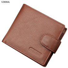 Buy Wallet Men Leather Wallets Male Purse Money Credit Card Holder Genuine Coin Pocket Brand Design Money Billfold Clutch for $5.99 in AliExpress store