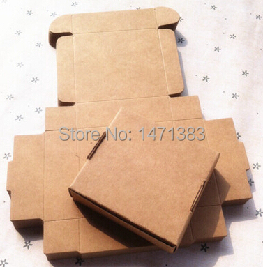 50pcs 6.4*6.4*2.8 cm Kraft paper gift packaging box custom carton handmade soap Jewellery Candy Food packages Free Shipping(China (Mainland))