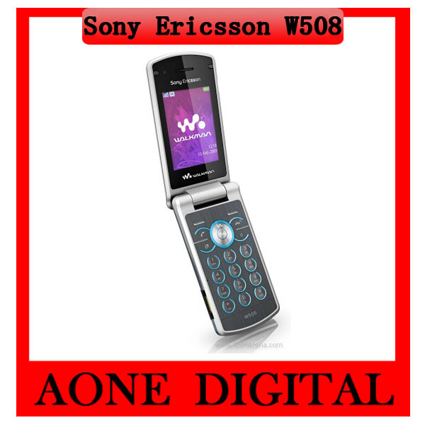 Original Refurbished Sony Ericsson W508 3.15MP Bluetooth Java Unlocked Flip Mobile Phone Free Shipping(China (Mainland))