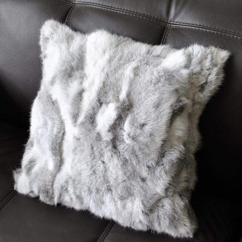 how to put fur throw with fur cushion