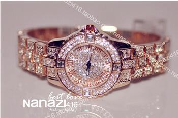 2015 New Women Rhinestone Watches Lady Dress watch Diamond Luxury brand Bracelet Wristwatch ladies Crystal Quartz Clocks - XLL watches Co. ,Ltd Store store