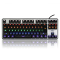 Colorful gaming keyboard laptop computers 87 USB wired keyboard luminous backlit mechanical feel marquees lot lighting