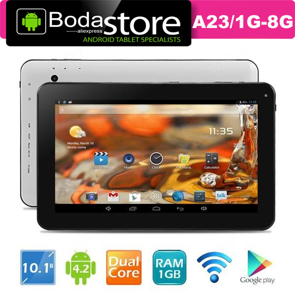 "FreeShip OEM ODM tablets pc 10.1"" inch HD Screen Android 4.2.2 A33 Qual-Core Tablet PC w/ WiFi (1GB + 8GB) tablet pc 10.1 inch(China (Mainland))"