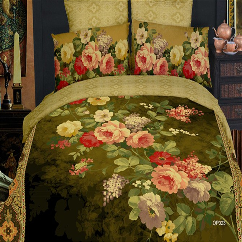 2014 ALL Style 3D Oil Painting Print Bedding Sets Queen/King Size Bed set/linen/sheet Duvet Cover Bedclothes Home Textile - A-ONE store