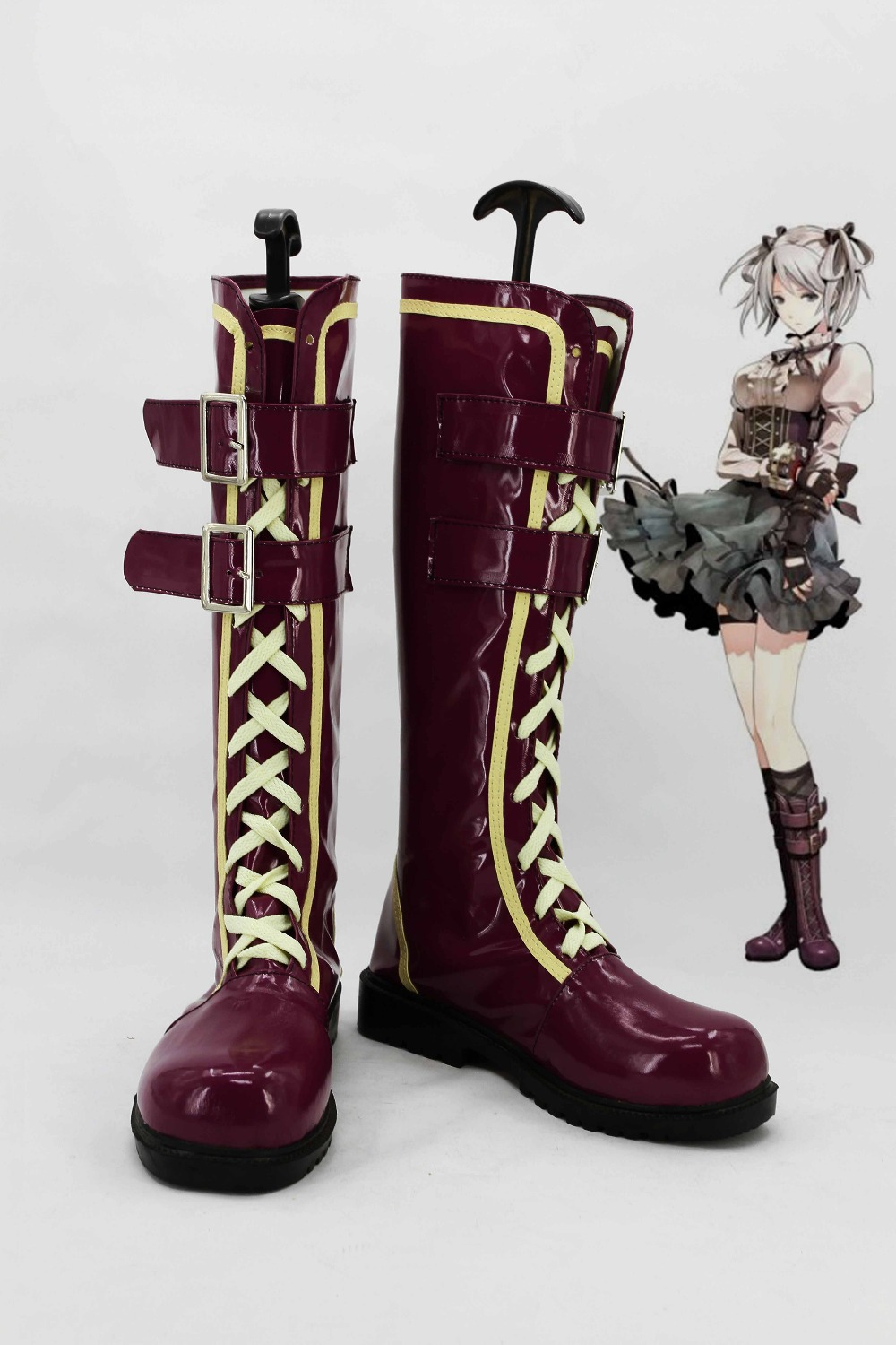 Фотография New male female costumes customize God Eater 2 Alphamax Sillu Ellensen COSPLAY customized shoes boots costumes