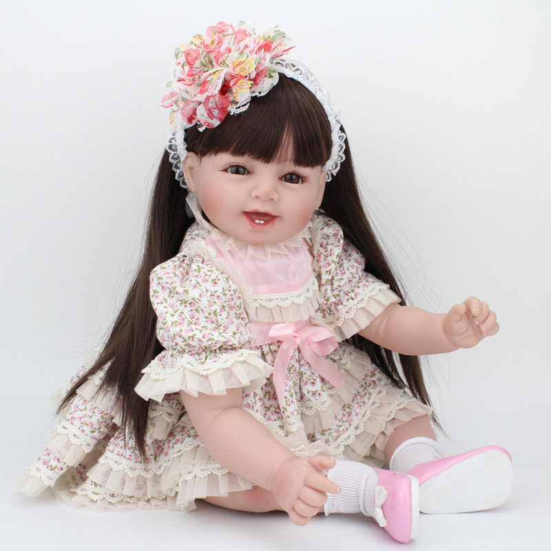 collectible dolls real baby silicone reborn doll 22 inch