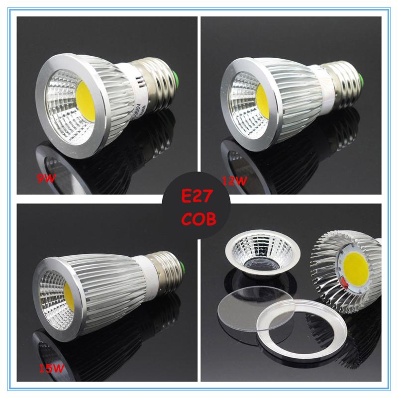 Гаджет  Dimmer High Power COB E27/GU10/MR16  LED Light Bulb 9W 12w 15w COB   LED Spot Light Bulb Lamp White/Warm White Bulb lamp None Свет и освещение