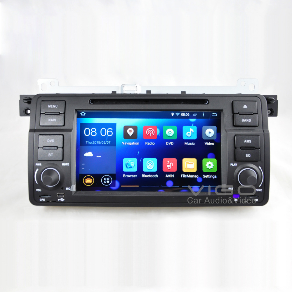 android 4 4 car stereo for bmw 3 series e46 m3 1998 2006. Black Bedroom Furniture Sets. Home Design Ideas
