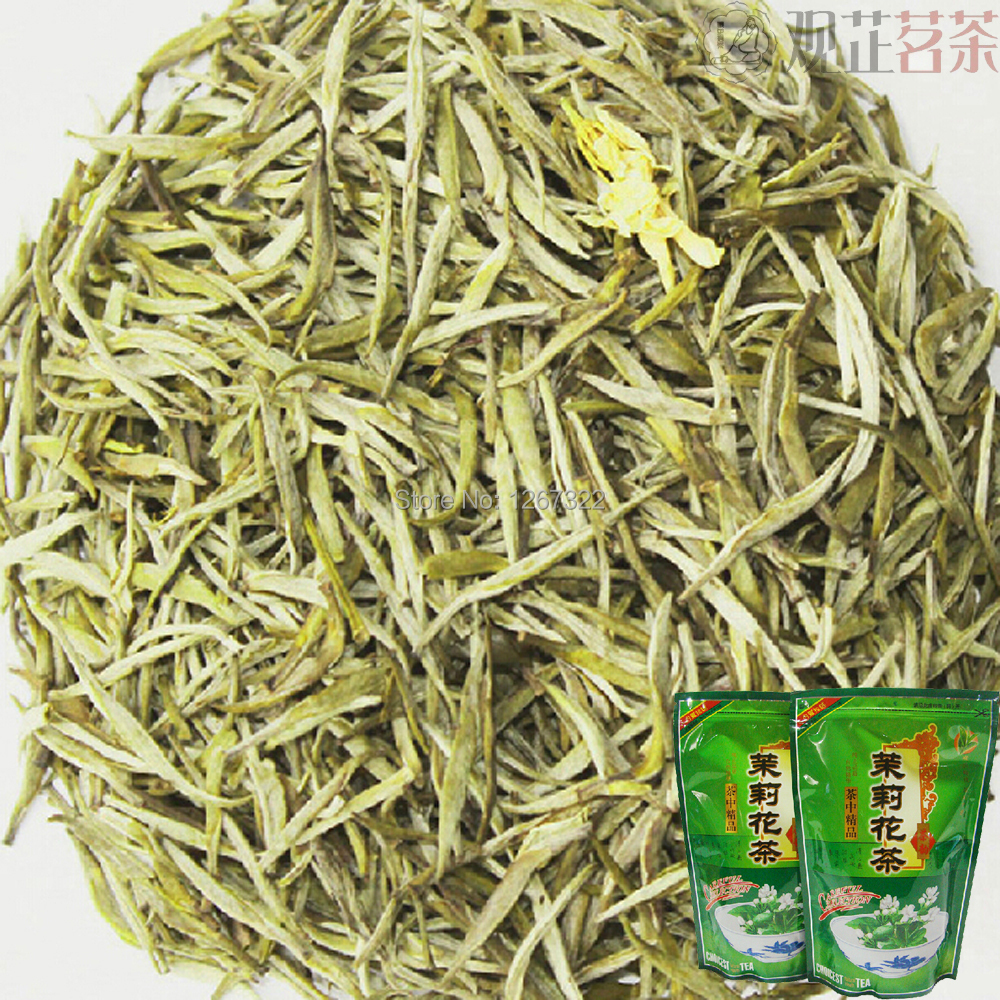 [Premium] 250g New Arrival Organic Chinese Jasmine Silver Needle King Green Tea YinZhen Deep Fragrance Sealed In Bag(China (Mainland))