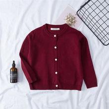 2019 די ילדים בגדי בנות מעילי ילדים לסרוג להאריך ימים יותר חולצות רך תינוק סוודר מעיל תינוק סריגה קרדיגן עבור בנות(China)