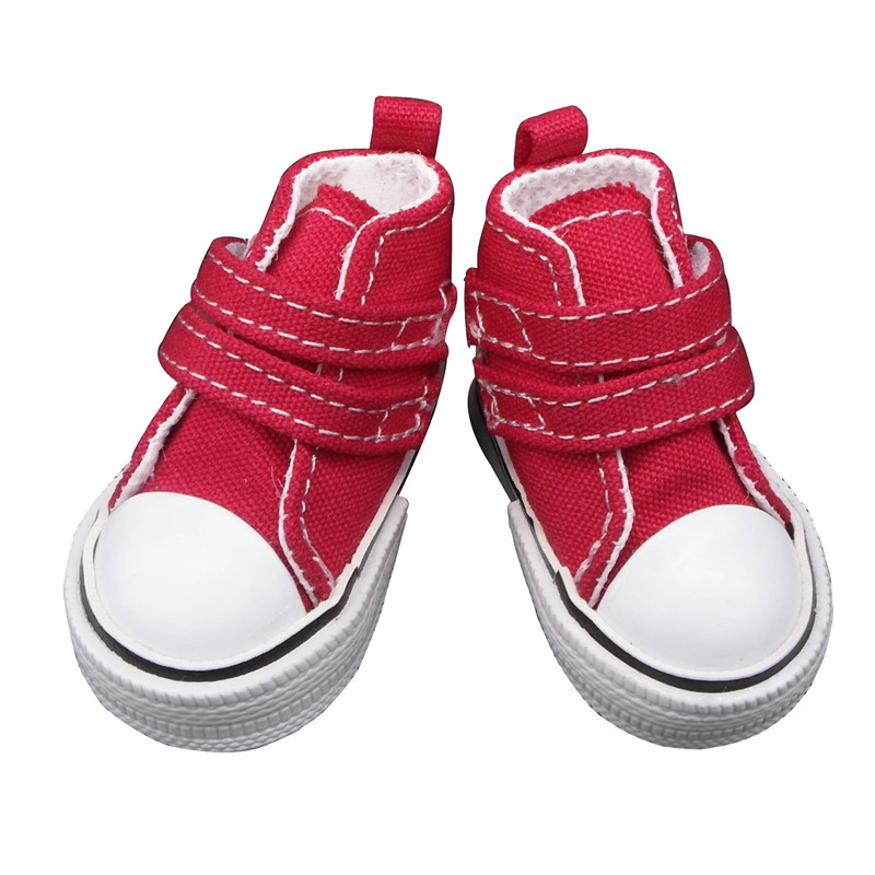 doll shoes red