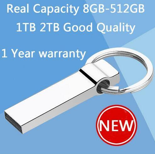 100% Real Hot Metal Key Chain 64GB Mini USB Flash Drive 128GB Pen Drives 1TB Pendrive Memory Stick Disk On Key 512GB(China (Mainland))