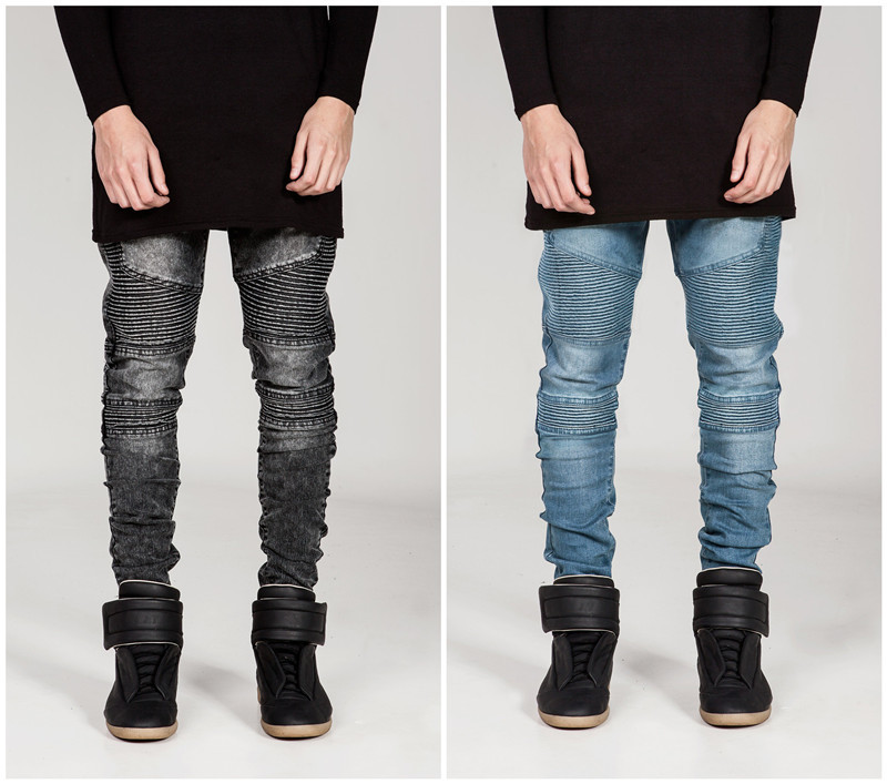 2017 Wholesale Streetwear Mens Ripped Biker Jeans Homme Men'S ...