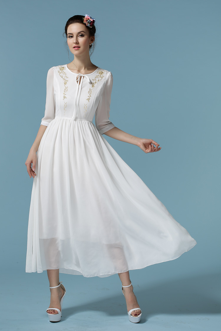 2015 newest chiffon dresses for women wedding dresses for Boho casual wedding dress