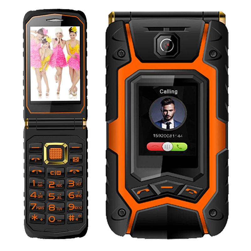 MAFAM Land Flip phone Rover X9 Double dual Screen shockproof Dual SIM long standby FM mobile phone for old people senior P008(China (Mainland))